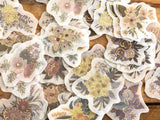 Japanese Washi Masking Stickers / Seal bits - Blossom
