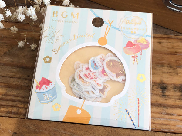 Japanese Washi Masking Stickers / Seal bits - Summer Festival