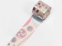 Yamato Japan Beauty Washi Masking Tape - 30mm Festival with silver foil stamped
