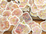 Japanese Washi Masking Stickers / Seal bits - Cherry Blossom