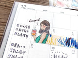 Pointdiary Original Gril Washi Tape - Happy Hours