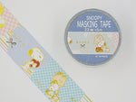Japanese Masking Tape / Snoopy & Flowers 23mm - Thank you