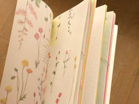 Color notes of warm flowers [Slim Notebook]