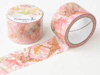 Kimono Beauty Yuzen Washi Masking Tape with gold foil stamped - Origami Crane