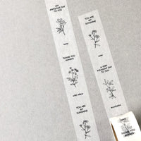 Botanical Garden Japanese Washi Tapes - Message
