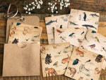 Picture book Style memo letter paper set with case / Animals