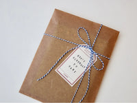 High Quality Letterpress Washi Mini Gift Tags / Message Cards