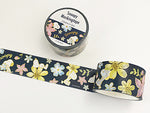 Japanese Masking Tape / Snoopy & Flowers 23mm Navy
