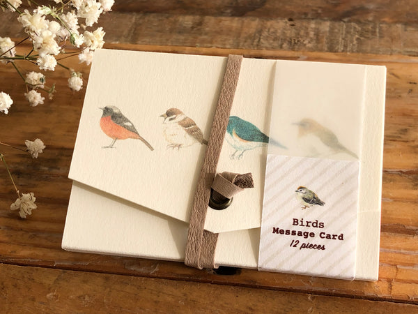 Picture Book Style Message Cards with a Case / Birds