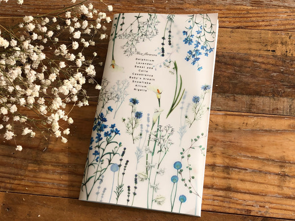 Color notes of cool flowers [Slim Notebook]