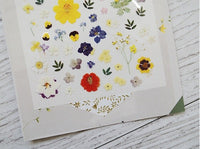 SUATERIE Sheet of Sticker / Flower Decoration