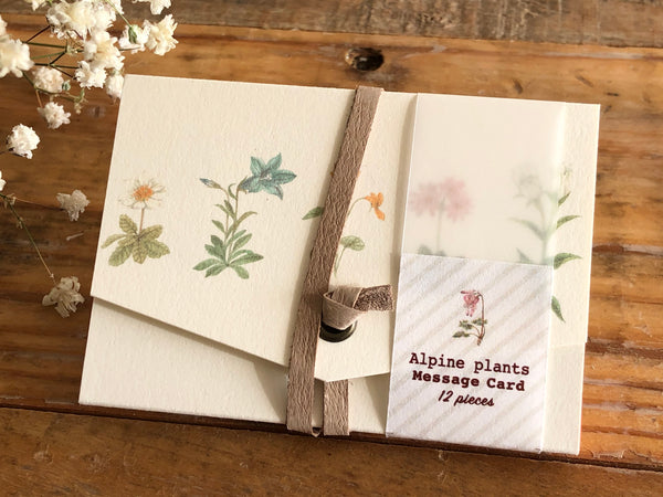 Picture Book Style Message Cards with a Case / Alpine plant