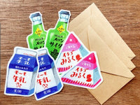 Furukawa Mino Paper Die-Cut Mini Letter Set - Japanese Drinks
