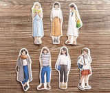 Pointdiary Original Gril Sticker Pack - White