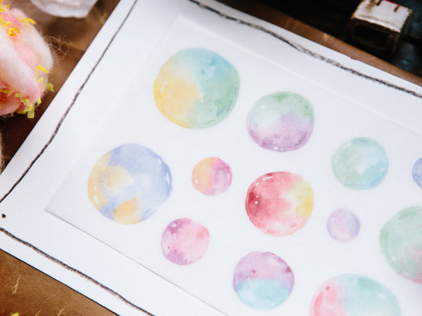 OURS Transfer Sticker Set - Colorful Bubbles (2 pieces)