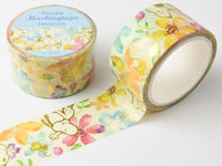 Japanese Masking Tape / Snoopy & Flowers 23mm white