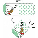 Sheet of Index Tab / Schedule Sticker - Snoopy