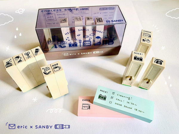 PRE-ORDER / Eric Small Things x Sanby / Endless Stamp Set