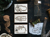 OURS original stamp set / Flower Label B DIY Stamp Set