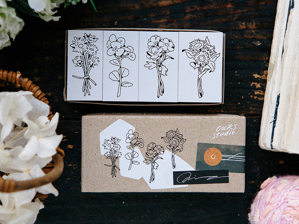OURS original stamp set / Flowers for you