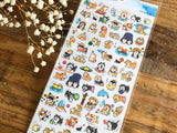 Sheet of Stickers -  Shibanban Summer Collection