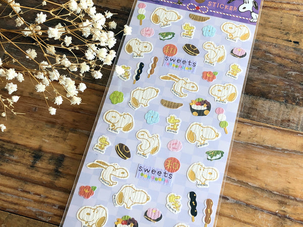 Snoopy Sheet of Stickers / Japanese Style Series-Japanese confectionery