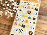 Snoopy Sheet of Stickers / Japanese Style Series-Riceball