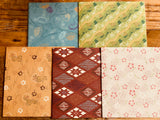 Aizugata pattern Japanese Origami Paper / 15 x15 cm , 20 sheets for craft projects, gift wrapping
