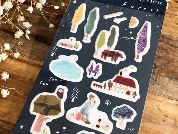 Tamura Miki Masking Sheet of Sticker / Forest