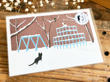 Tabineko Postcard - Winter