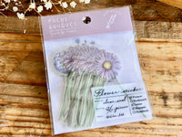Q-Lia Poche Bouquet Stickers / Seal bits - Purple