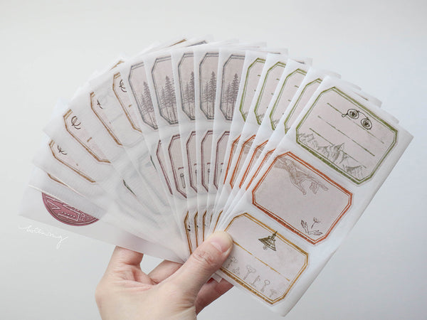 Lin Chia Ning / Vintage Label sticker set