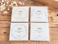 High Quality Botanical Garden Letterpress Memo Pad - Flower Wreath