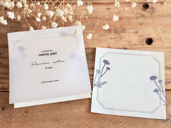 High Quality Botanical Garden Letterpress Memo Pad - Zion