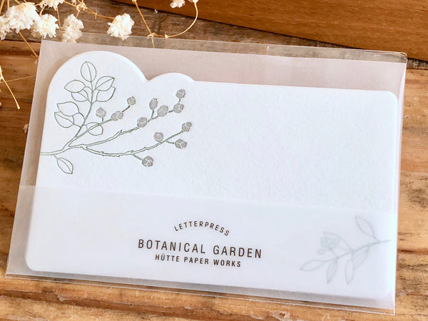 High Quality Letterpressed Washi Flora Mini Message Cards - Eucalyptus