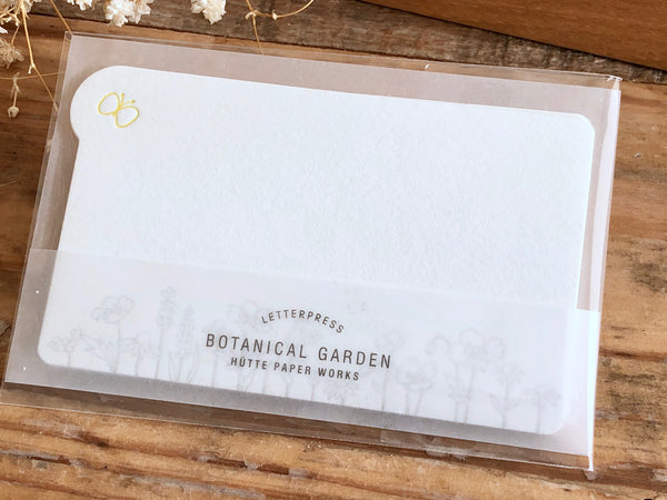 High Quality Letterpressed Washi Flora Mini Message Cards - Wild Flowers