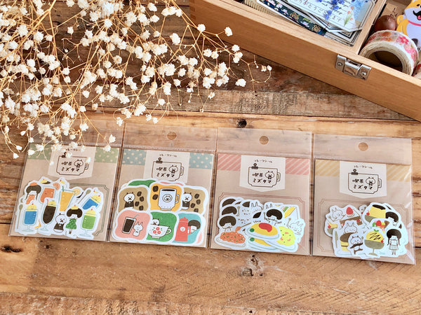 Papier Platz x Mizutama Flake Stickers / Seal bits - Cafe Series