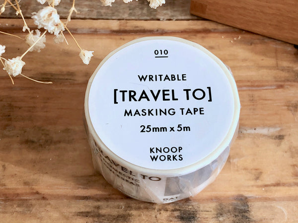 KNOOP Original Washi Masking Tapes - TRAVEL TO