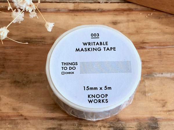 KNOOP Original Washi Masking Tapes - THINGS TO DO (15mm)