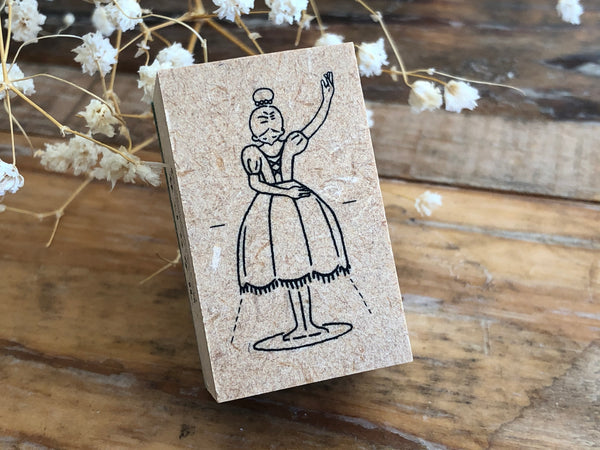 Japanese Wooden Stamp - Ballet Lamp