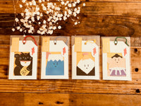 Washi Mini Die-Cut Gift Message Cards with envelopes