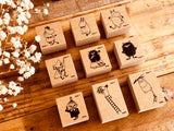 Moomin Japanese Wooden Rubber Stamps
