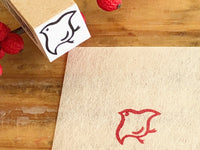 Beautiful Japanese design rubber stamp- Bird