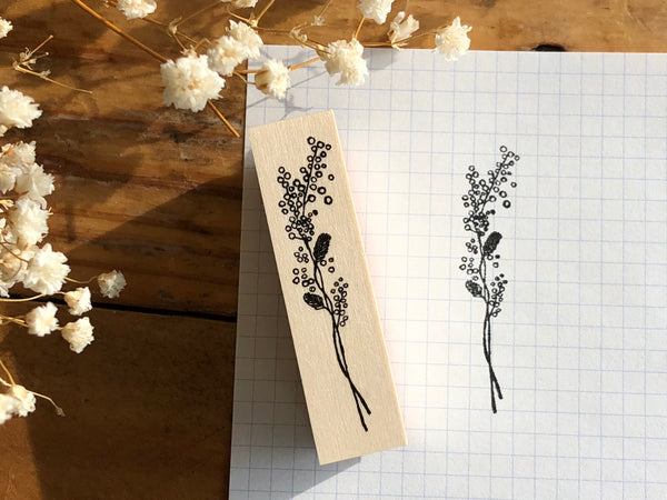 Kubominoki Original Botanical Rubber Stamp - Mimosa