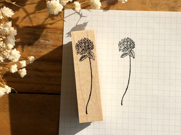 Kubominoki Original Botanical Rubber Stamp - Hydrangea