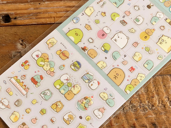 Sumikko Gurashi Clear Schedule Stickers / Seals