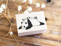 Nonnlala Original Rubber Stamp - Can't take it anymore~Panda