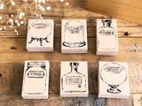 Lihao Paper Original Rubber Stamp - Little Bottle Stamp No.3