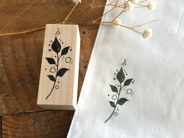 Nonnlala Original Rubber Stamp - Botanical Leaves