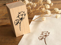 Nonnlala Original Rubber Stamp - Cotton Flower